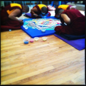 Tibetan Monks Creating a Sand Mandala which Will be Washed Away Upon Completion. These guys know about Process!